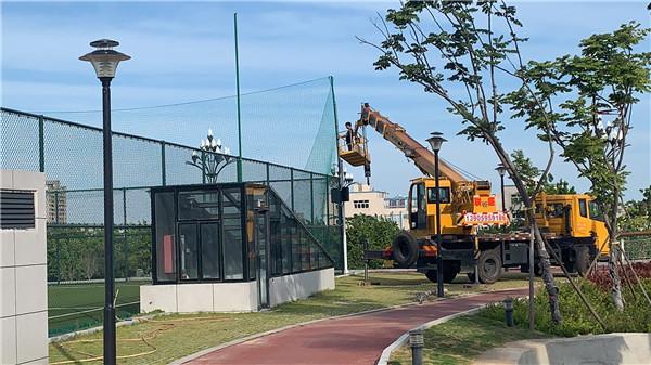 晉江市足球訓練中心(足球公園)即將完成改造提昇